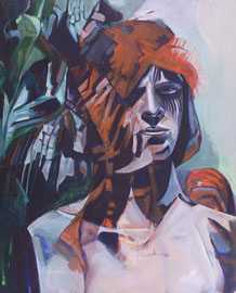 Krieger, Acryl und Öl auf Leinwand, 110x88 cm, 2016 ©Dorothee Liebscher
