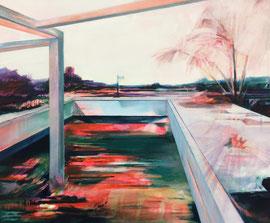 Farbfenster, Acryl und Öl auf Leinwand, 50x60cm, 2018 ©Dorothee Liebscher