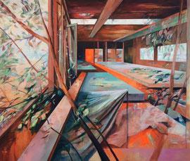 Einleuchten, Acryl und Öl auf Leinwand, 195x230cm, 2018 ©Dorothee Liebscher