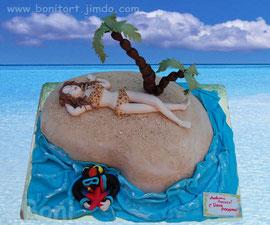 Дайвер, пляж, девушка