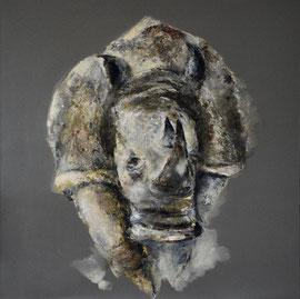 Rhino n. 4 - tech. mixte - 100x100