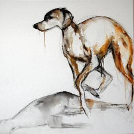 chien et son ombre n. 10 - acrylique - 100x100