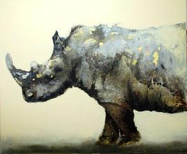 Rhino N. 1 - technique mixte - 100x120