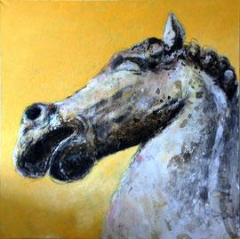 tête de cheval n. 2 - tech. mixte - 100x100