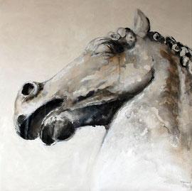 tête de cheval n. 1 - tech. mixte - 100x100