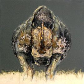 Rhino N. 3 - technique mixte - 100x100