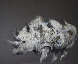 Rhino n. 6 - tech. mixte - 100x120