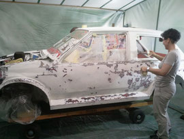 Matteos Auto klar zum lackieren