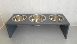 Hundebar mit 3 Näpfen, große Näpfe