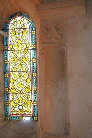 vitrail du coeur(sanctuaire)