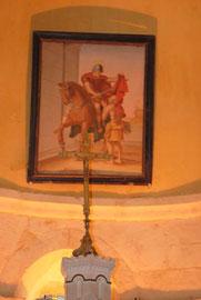 tableau de Saint-Martin partageant son manteau