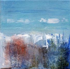 """""""Grand air"""" enduit, pigments, acrylique sur toile 20 x 20"""