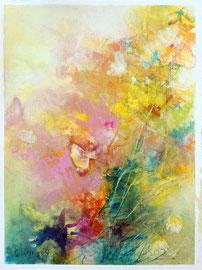 """""""Bloom 09"""" peinture à l'huile sur papier toilé 30 x 40 cm"""