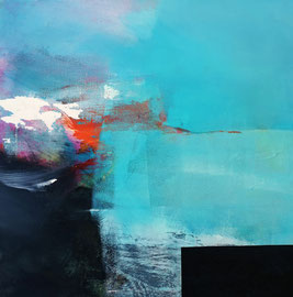 """""""A l'abri du ciel"""" Technique mixte sur toile 50 x 50 cm disponible"""