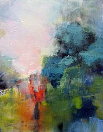 """""""Le passage"""" acrylique sur toile 50 x 61 VENDU"""