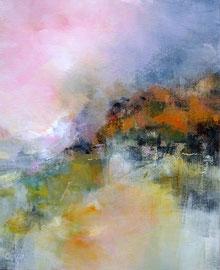 La saison rousse - Acrylique et pigments sur toile 50 x 61 disponible