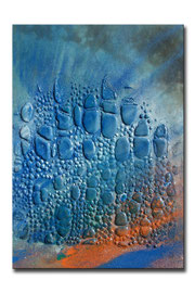 "Thomas Girbl ""eastern cotton wood blue 3"" 50x70cm 2009"