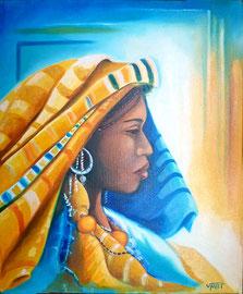 Huile sur toile Maroc 55X46