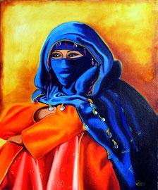 Huile sur toile Maroc 46X38