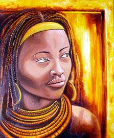 Huile sur toile Afrique 55X46