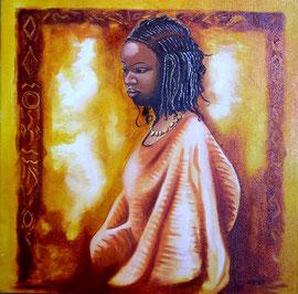 Huile sur toile Afrique 35X27