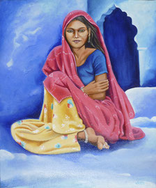 BUNDI -huile 55x46- Inde