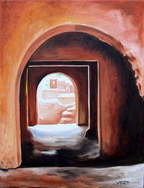 Huile sur toile Maroc 35X27