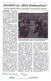 Kreiszeitung Hoya, den 22. August 2018