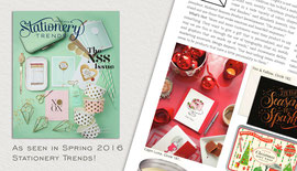 2016 Spring - Stationery Trends - Holiday Cards