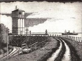 Weißer Leuchtturm  (15x20)