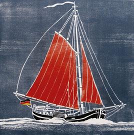 Ewer am Wind  (30x30)
