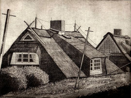 Häuser hinterm   (15x20)