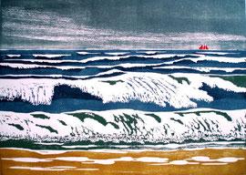 Nordseebrandung  (25x35)