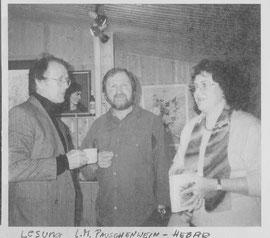Lesung  im Atelier Franz Haas 1995  - am Foto mit  dem bekannten Lyriker Helmut Pacholik (links),  Franz  Haas +