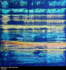 """Passacallia"" - Oil on canvas - 150 x 150 cm"