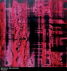 """Blues"" - Oil on canvas - 150 x 150 cm"