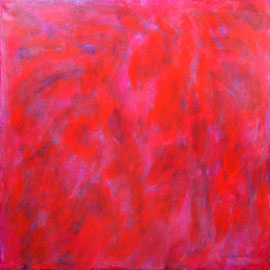 """Dance in the fire"" - Acrylic on canvas - 100 x 100 cm"