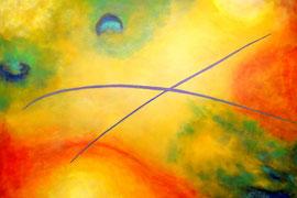"""""""Psalm"""" - Acrylic on canvas - 100 x 150 cm"""