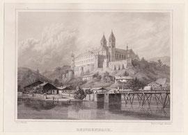 Kloster Reichenbach a. Regen, Stahlstich, Wühle / Poppel um 1840, 25cm x 20cm