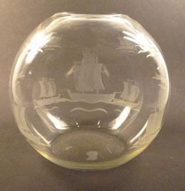 Vase, Süssmuth, 14,5 cm farbloses Kristallglas mit Schliff