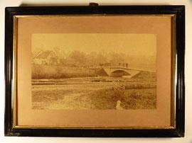 Alte Fotografie, Niedermeiser / Liebenau mit Warmebrücke, um 1910, 55cm x 40cm