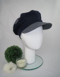 Schimü_10,Baumwolljeans, Gummizug am Hinterkopf, in jeder gewünschten Kopfgröße herstellbar, Preis: 49,90 €