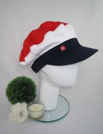 Schimü_01, Baumwolljeans, Gummizug am Hinterkopf, in jeder gewünschten Kopfgröße herstellbar, Preis: 49,90 €