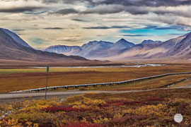 "Bild: valley of Galbraith lake, Dalton Highway, Alaska, ""Atigun Pass passé""; www.2u-pictureworld.de"