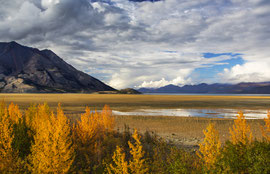 "Bild:  Haines Highway, Kluane NP, Yukon, Canada,""wild colourful nature"" (Kluane NP)""; www.2u-pictureworld.de"