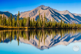 "Bild: lake at Denali Hwy, Alaska, ""twins""; www.2u-picturworld.de"
