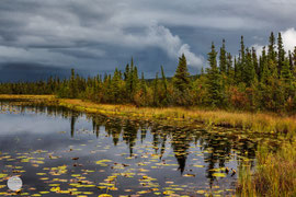 "Bild: lake at Dalton Highway, Alaska on the first 100 miles, ""lake shore""; www.2u-pictureworld.de"