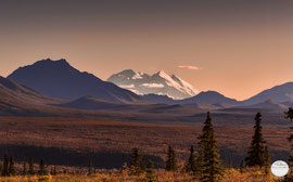"Bild: Denali in the evening light, Denali NP, ""Denali! the big white giant; www.2u-pictureworld.de"