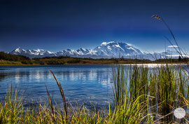 "Bild: the Denali seen from the reflection pond, Denali Nationalpark, Alask, ""dominating Denali""; www.2u-pictureworld.de"