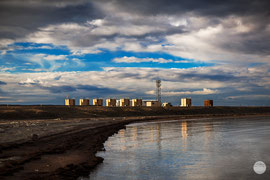 "Bild: oil rig at Prudhoe Bay, Alaska, ""spot on on the oil rig""; www.2u-pictureworld.de"
